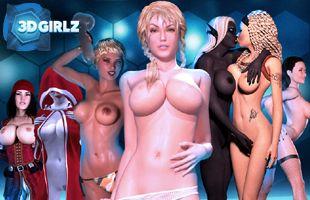 Spielen 3D Girlz mit interaktiven pornos