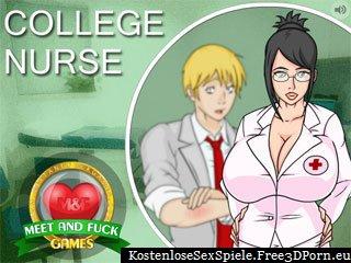 College Nurse - Schüler der Schule ficken Spiel