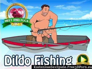Verwenden Dildos um nackte Meerjungfrauen mit riesigen Titten fangen