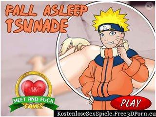 Fall Asleep Tsunade - blonde Mädchen in Erotik Spiel