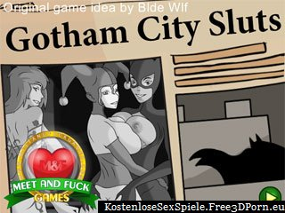 Gotham City mit Batman und Comic Luder Sex