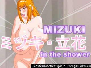Mizuki Dusche gamew mit sexy Dusche Fick