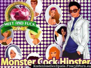 Monster Cock Hipster ficken in einem Online Porno Spiel