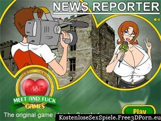 Nachrichtenreporter mit sexy Journalisten